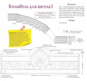 Схема2 вязаное бельё в колыбель