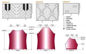 Схема  свитер женский вязаный спицами
