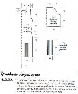 Выкройка для вязаного голубого платья