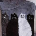 Вязаная сумка крючком с котами