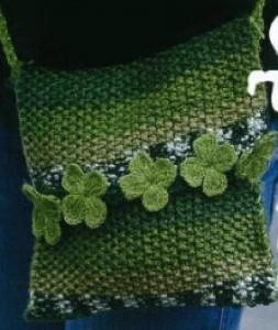 Зеленая сумка для девочки