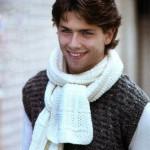 Вязаный мужской шарфик