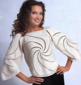 Красивый вязаный свитер Вихрь