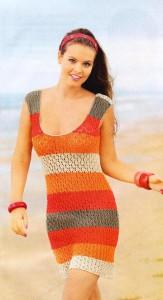 Платье из широких полос