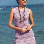 Платье с узорами