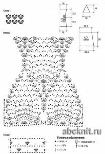 Вязаное пляжное платье схема узора