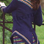 Вязаный костюм жакет и юбка
