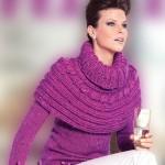 Вязаный свитер и пелерина