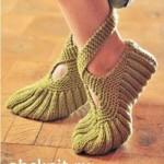 Зеленые ночные туфли с завязками