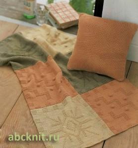 Прекрасное вязаное покрывало спицами