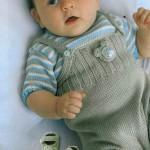 Комбинезон, распашонка, пуловер и пинетки для новорожденного