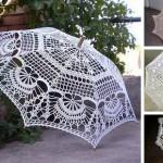 Коллекция вязаных крючком зонтиков