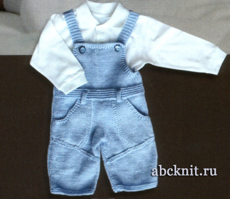 комбинезон для малыша 6 9 месяцев вязание спицами и крючком