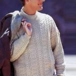 Бежевый мужской пуловер