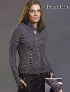 Одежда: Красивый вязаный свитер в Санкт-Петербурге