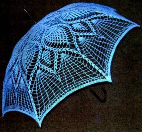 Вязаный зонтик крючком