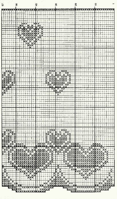 Схема занавески с сердечками