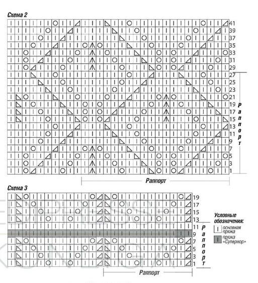 Схема узора 2 и 3