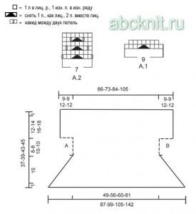 Схема и выкройка к болеро спицами