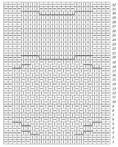 Схема Совы спицами