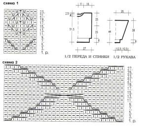 Схемы вязания и выкройки джемпера