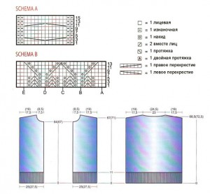 Схема вязаного жакета спицами